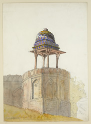 A turret of Humayun's tomb, Delhi